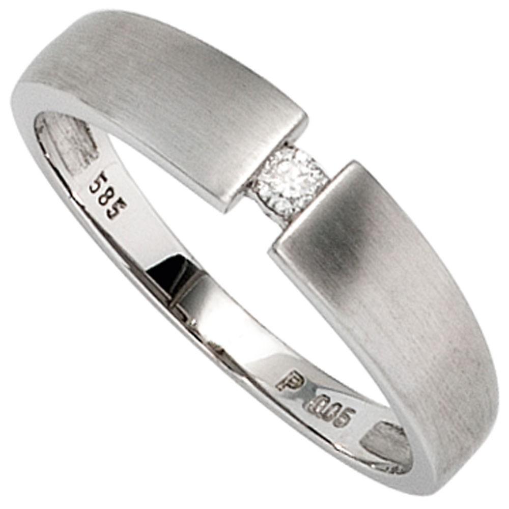 goldring f r damen ring mit diamant brillant und 585 gold. Black Bedroom Furniture Sets. Home Design Ideas
