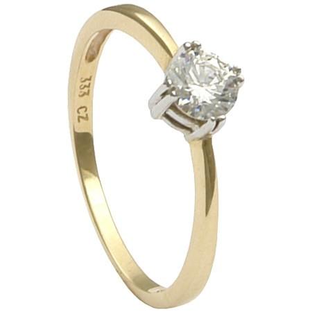 Ring-Damenring-mit-Zirkonia-333-Gold-Gelbgold-Weissgold-Goldring-Fingerschmuck