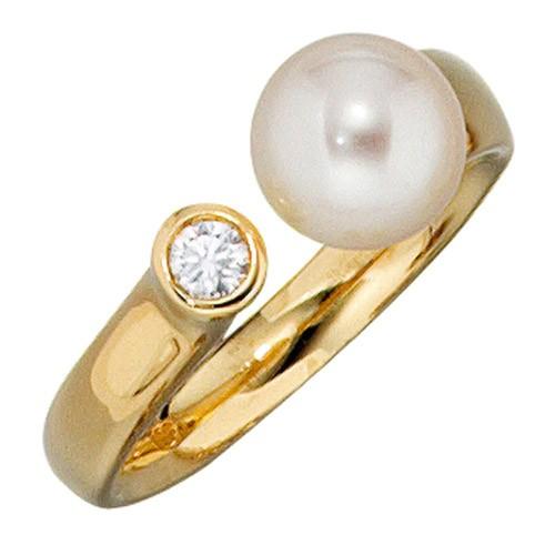 brillant ring in aus 14k 585 gelb gold mit brillanten brilliant goldring diamant ebay. Black Bedroom Furniture Sets. Home Design Ideas