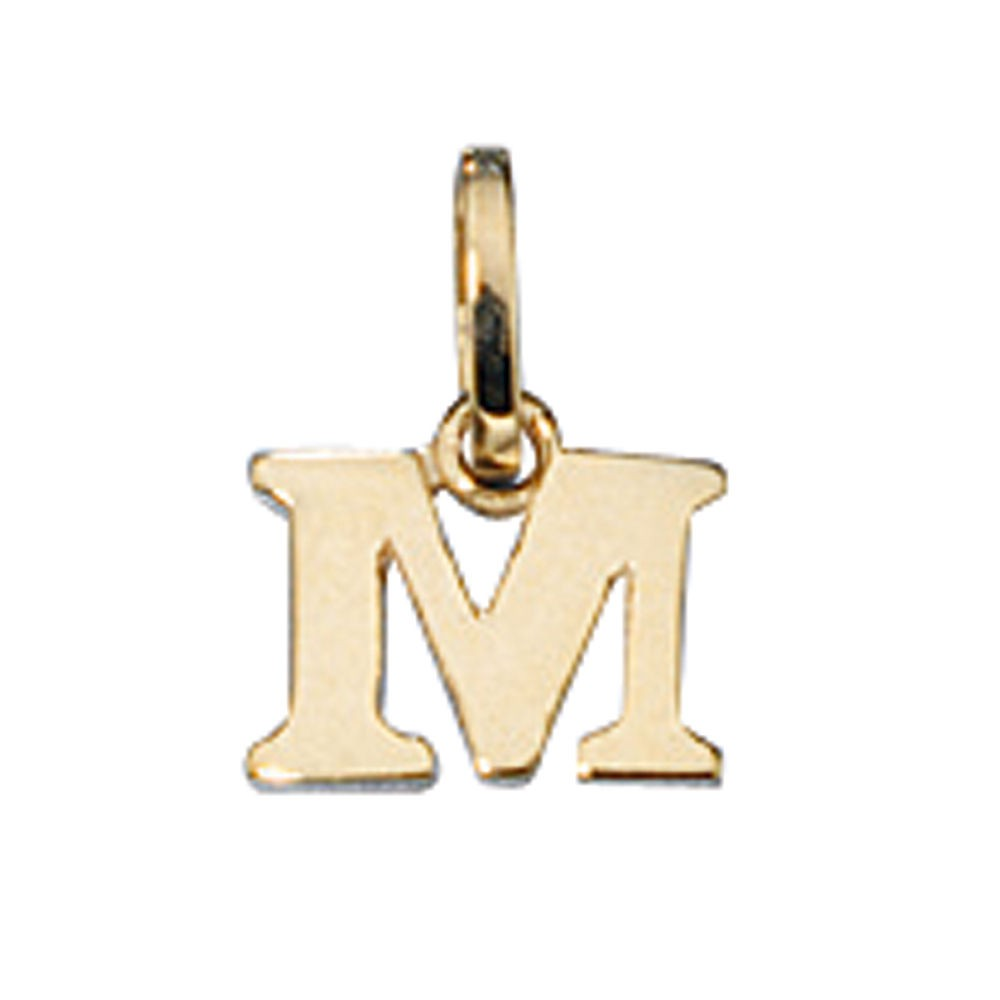 "Buchstabe "" M "" Ketten Anhänger Goldanhänger 333 Gold Einhänger Unisex"