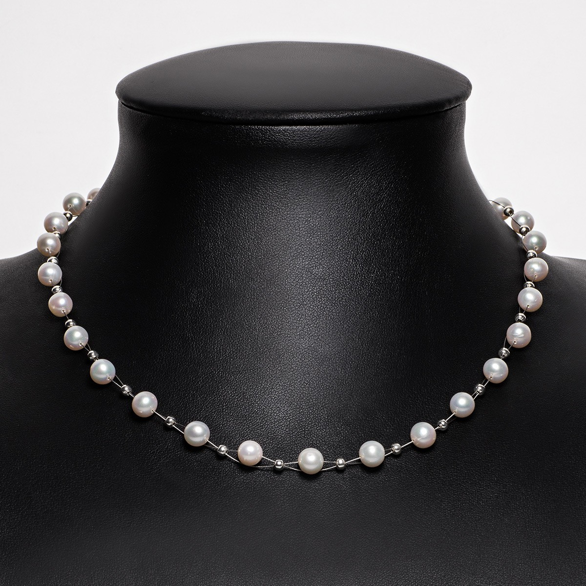 perlenkette kette collier halskette echte perlen creme wei halsschmuck damen kategorien. Black Bedroom Furniture Sets. Home Design Ideas