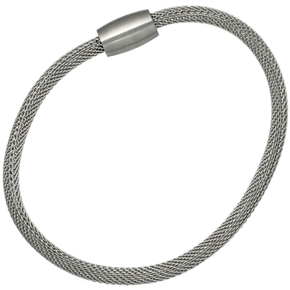 4mm strumpfarmband armband edelstahl magnet verschluss damen 19cm. Black Bedroom Furniture Sets. Home Design Ideas