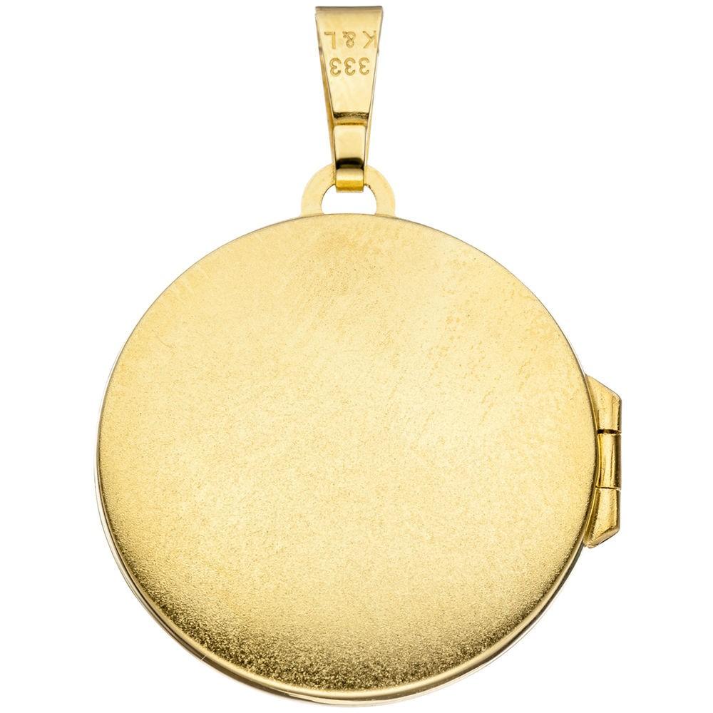 medaillon anh nger zum ffnen aus 333 gold gelbgold rund. Black Bedroom Furniture Sets. Home Design Ideas