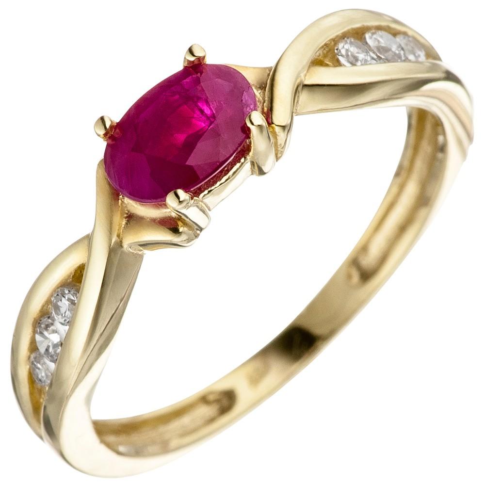ring damenring rubinring roter rubin in olivenform zirkonia 333 gelbgold kategorien goldschmuck. Black Bedroom Furniture Sets. Home Design Ideas