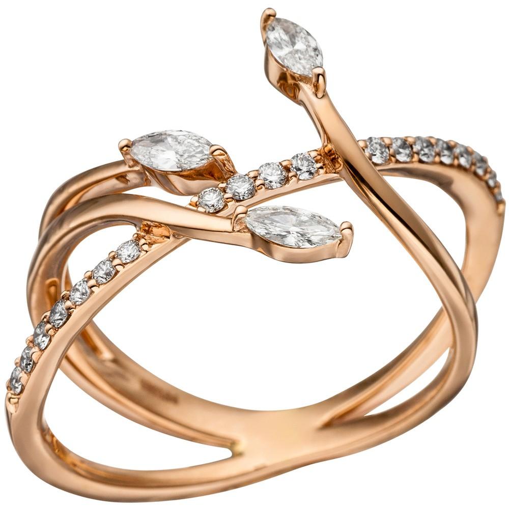 ring damenring mit 22 diamanten brillanten 585 gold rotgold brillantring kategorien goldschmuck. Black Bedroom Furniture Sets. Home Design Ideas