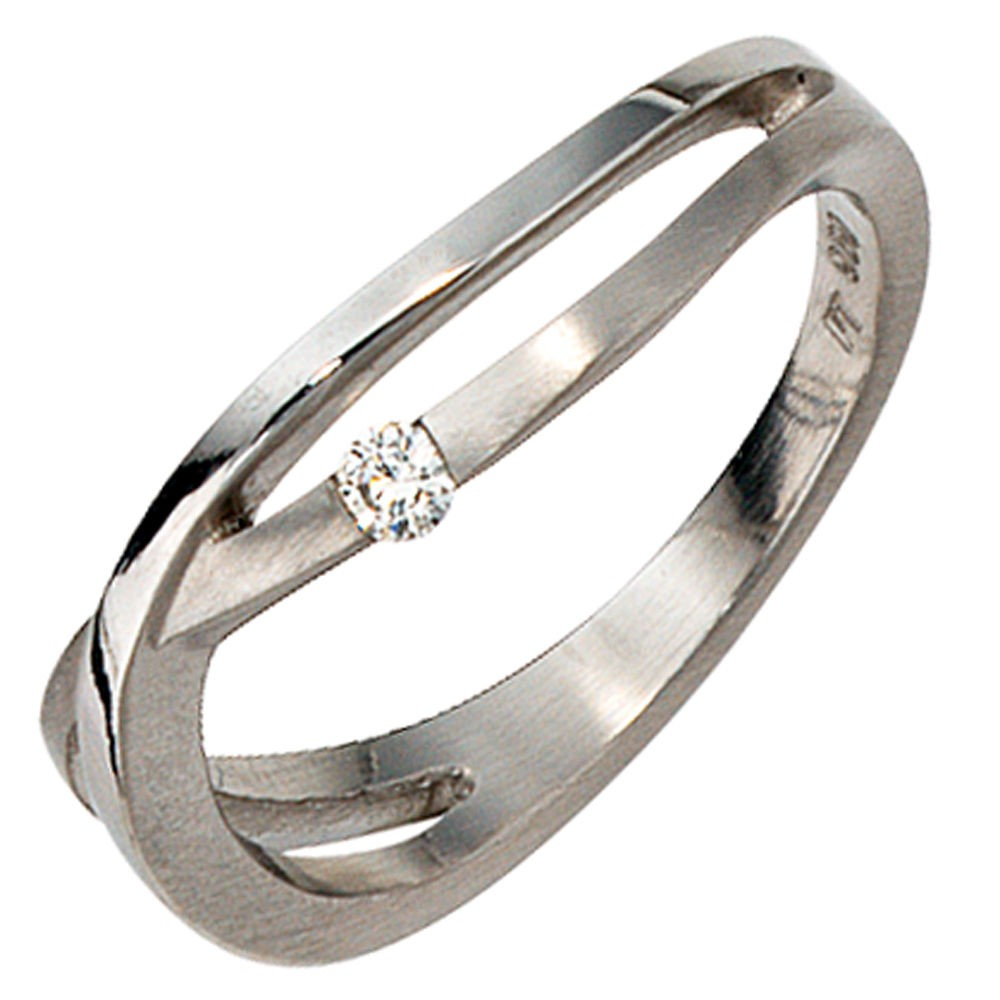 ring damenring mit diamant brillant 0 05ct 950 platin fingerring teilmattiert kategorien. Black Bedroom Furniture Sets. Home Design Ideas