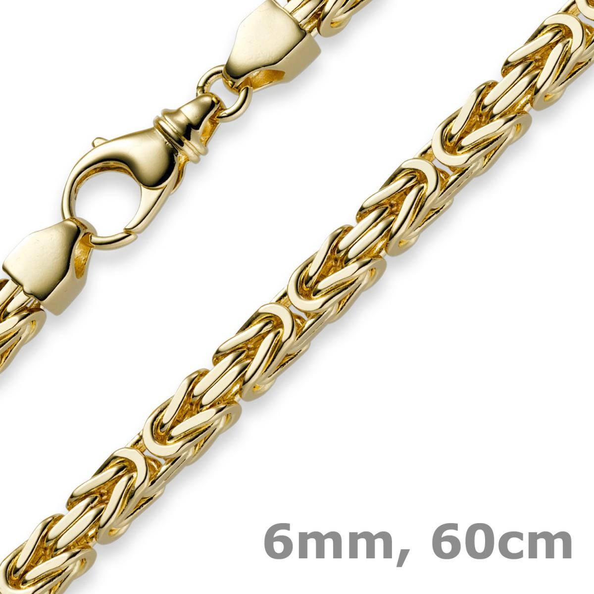 6mm kette halskette k nigskette aus 585 gold gelbgold 60cm. Black Bedroom Furniture Sets. Home Design Ideas