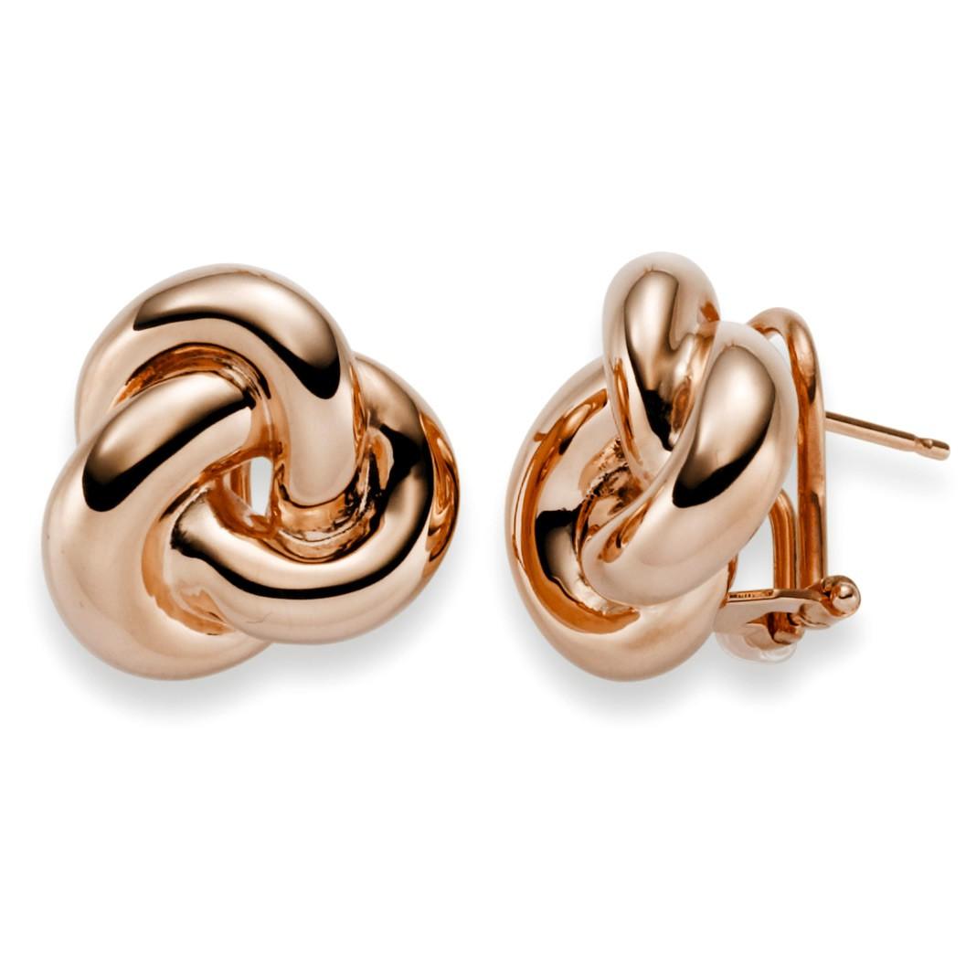 ohrschmuck ohrringe clip stecker knoten aus 585 gold. Black Bedroom Furniture Sets. Home Design Ideas