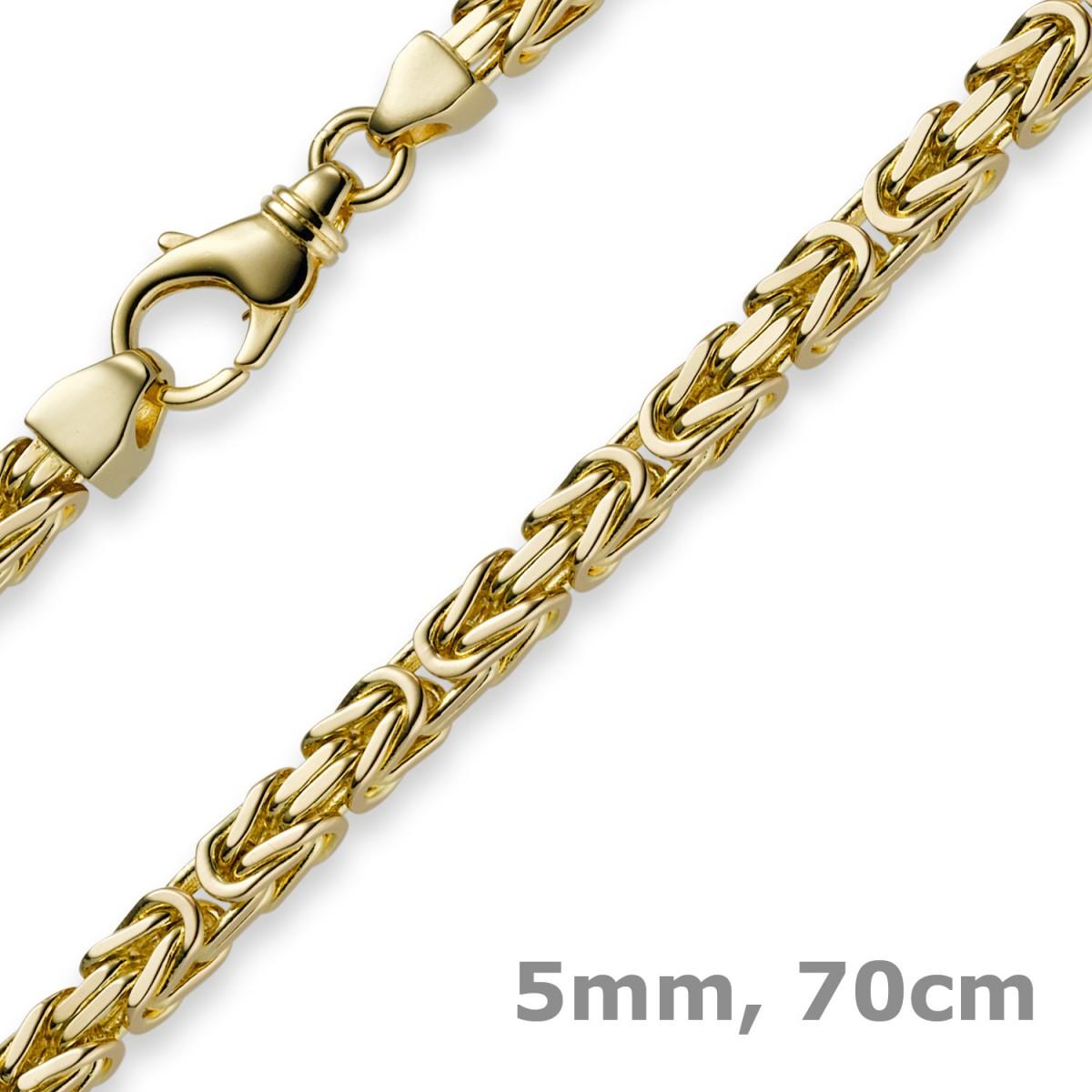 5mm k nigskette kette halskette aus 750 gold gelbgold. Black Bedroom Furniture Sets. Home Design Ideas