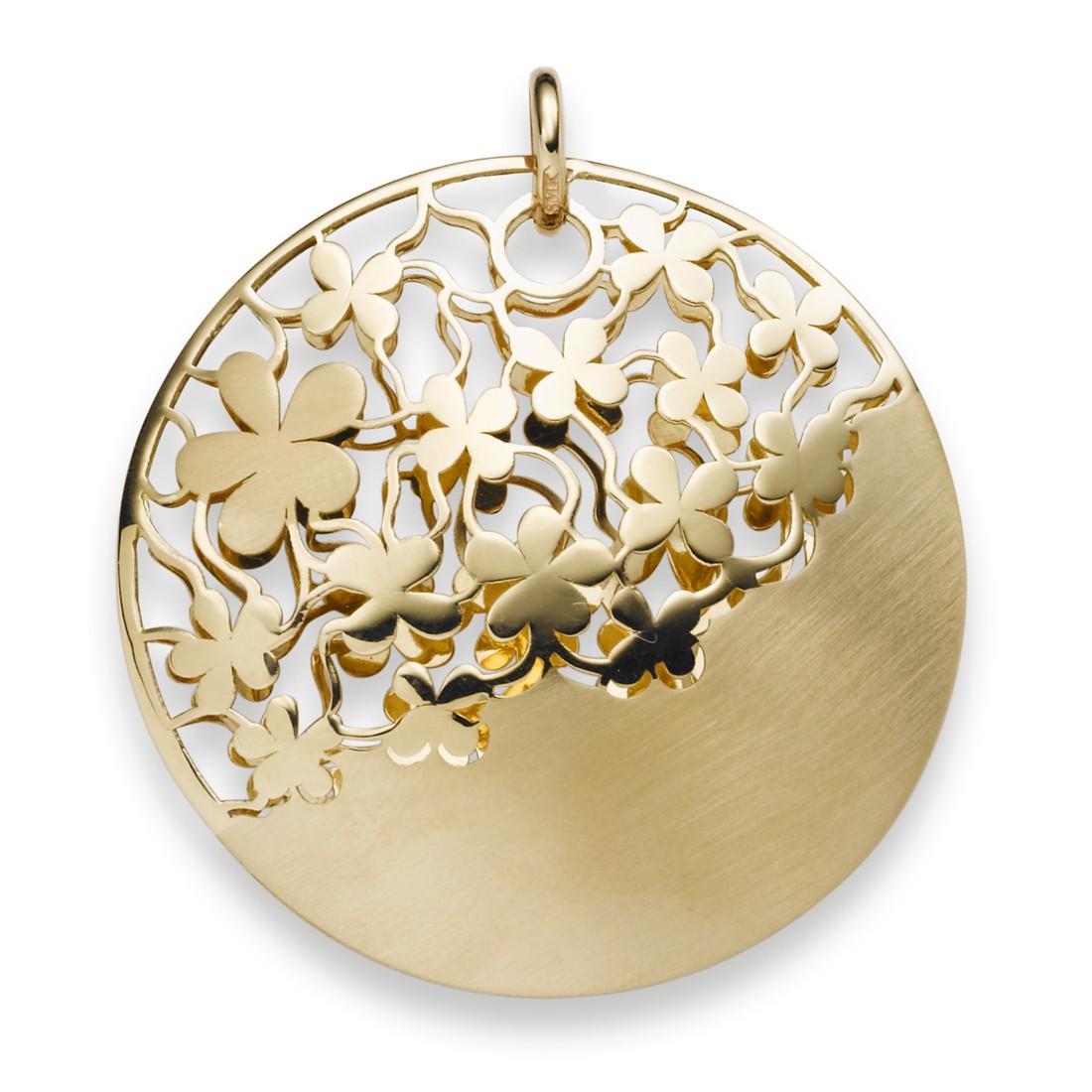 anh nger rund mit blumen ornament 585 gold gelbgold. Black Bedroom Furniture Sets. Home Design Ideas