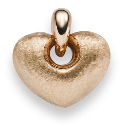 Anhänger Herz mattiert leicht gehämmert 585 Gold Rotgold 15,5x15mm ...