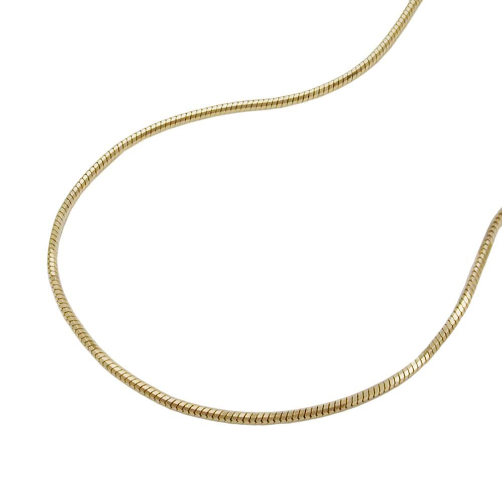 0 7mm schlangenkette 5 kant collier halskette 585 gold damen 45cm goldkette. Black Bedroom Furniture Sets. Home Design Ideas