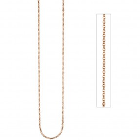 2,2mm Ankerkette Halskette Collier aus Edelstahl in rotgold Farbe 46cm