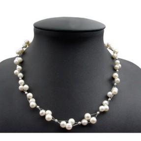 kette collier s wasser perlen zuchtperlen creme wei. Black Bedroom Furniture Sets. Home Design Ideas