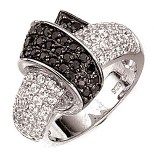 Ringe Schwarz Weiß Ring Zirkoniaring Schwarz