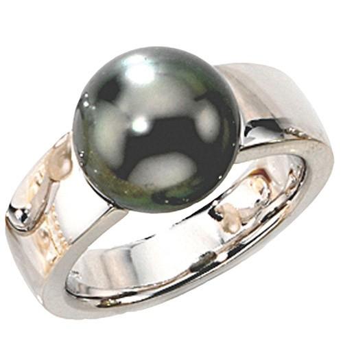 Ring Damenring mit Tahiti-Perle 585 Weißgold Gold Fingerschmuck Goldring