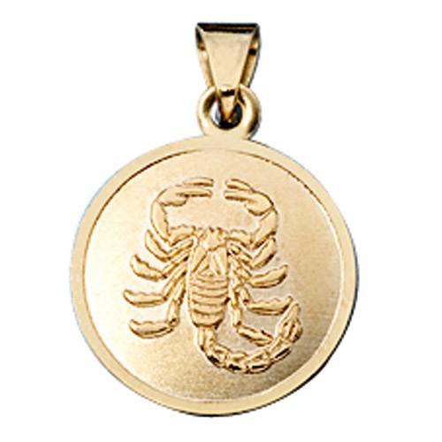 Skorpion Ketten Anhänger Goldanhänger 333 Gold rund Halsschmuck Unisex