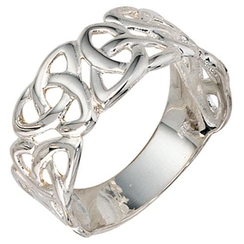 Breiter Silberring Ring Damenring aus 925 Echt Silber Sterlingsilber