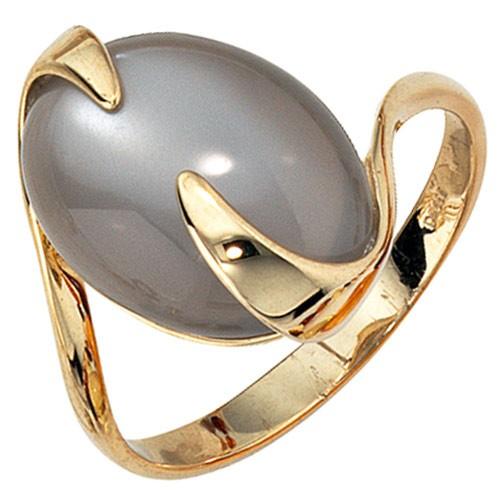 ring goldring damenring mit mondstein 585 gold gelbgold. Black Bedroom Furniture Sets. Home Design Ideas