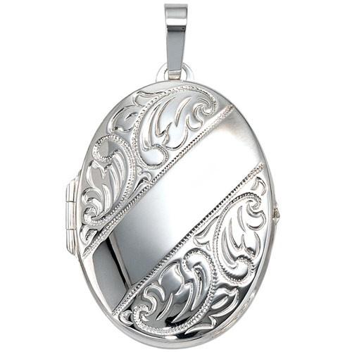 medaillon amulett anh nger zum ffnen aus 925 echt silber. Black Bedroom Furniture Sets. Home Design Ideas
