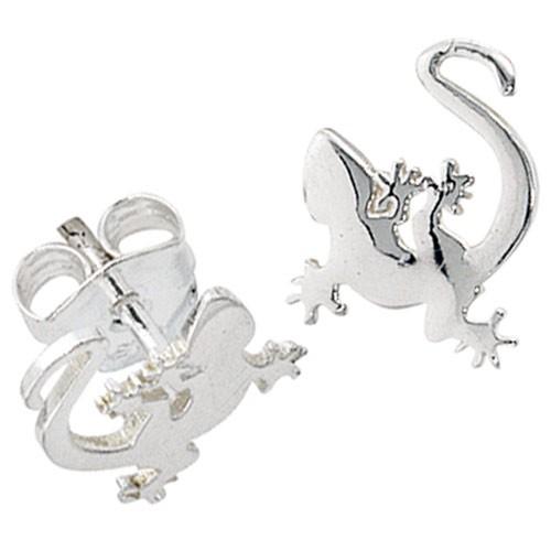 Paar Ohrstecker Stecker Gecko 925 Silber rhodiniert Ohrschmuck Ohrringe Damen