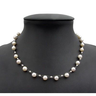 perlenkette kette collier halskette echte s wasser perlen. Black Bedroom Furniture Sets. Home Design Ideas