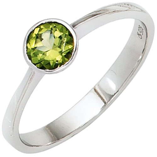 Ring Damenring Peridot grün 925 Silber rhodiniert Fingerschmuck Damen