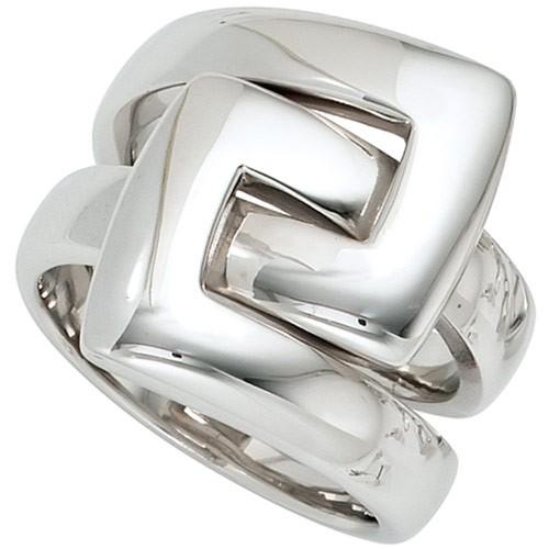 Breiter Ring Damenring 925 Silber Sterlingsilber Fingerring rhodiniert