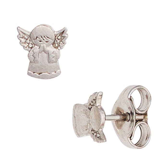 Ohrringe Ohrstecker betende Engel Schutzengel 925 Silber teilmatt Kinder