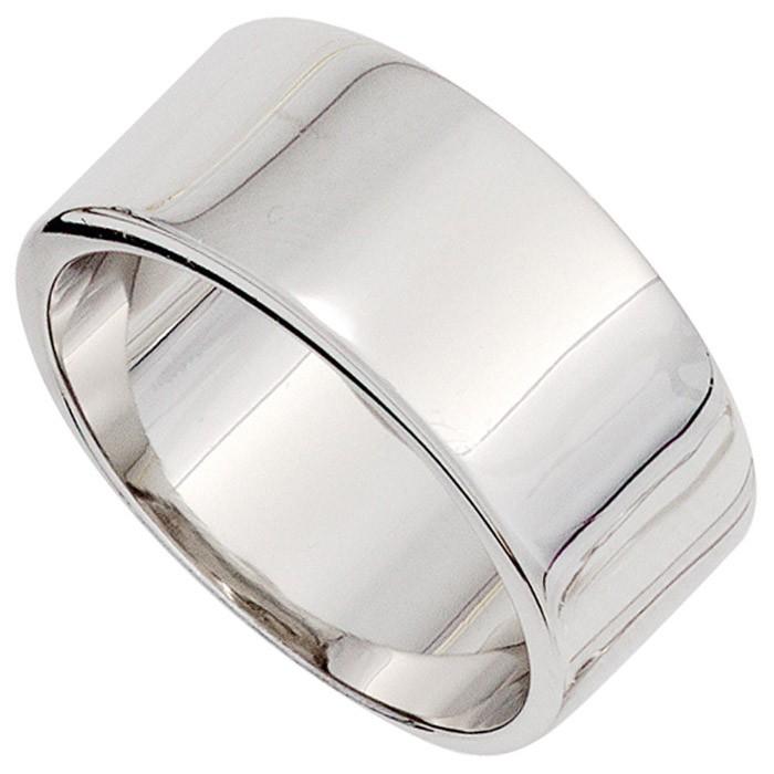 Breiter Ring Damenring 10,4mm breit 925 Silber glänzend schlicht Silberring