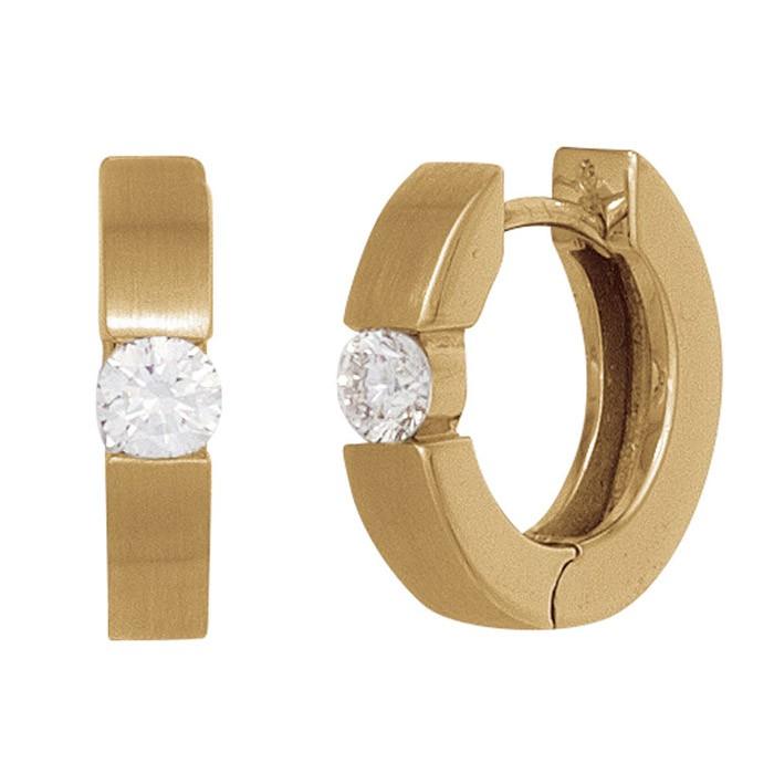 creolen ohrringe diamant brillant 0 20 ct 585 gold. Black Bedroom Furniture Sets. Home Design Ideas