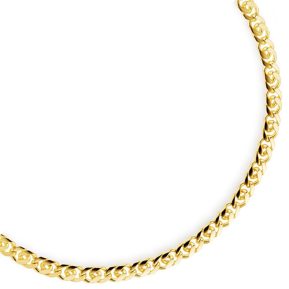 Kronleuchter Kette Gold : Mm kette collier er panzerkette aus gold gelbgold