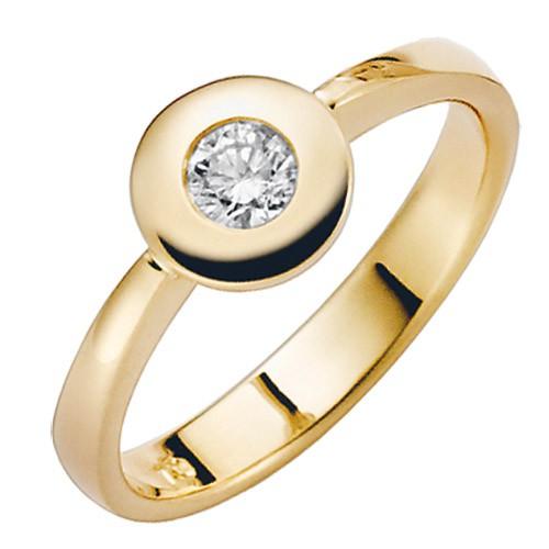 isady franny gold damen ring 18 karat 750 gelbgold platiert zirkonium herz taille. Black Bedroom Furniture Sets. Home Design Ideas