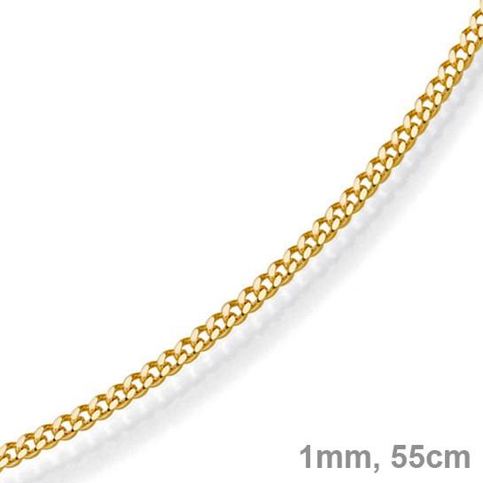 1mm feine panzerkette 585 gold gelbgold kette collier halskette 55cm. Black Bedroom Furniture Sets. Home Design Ideas