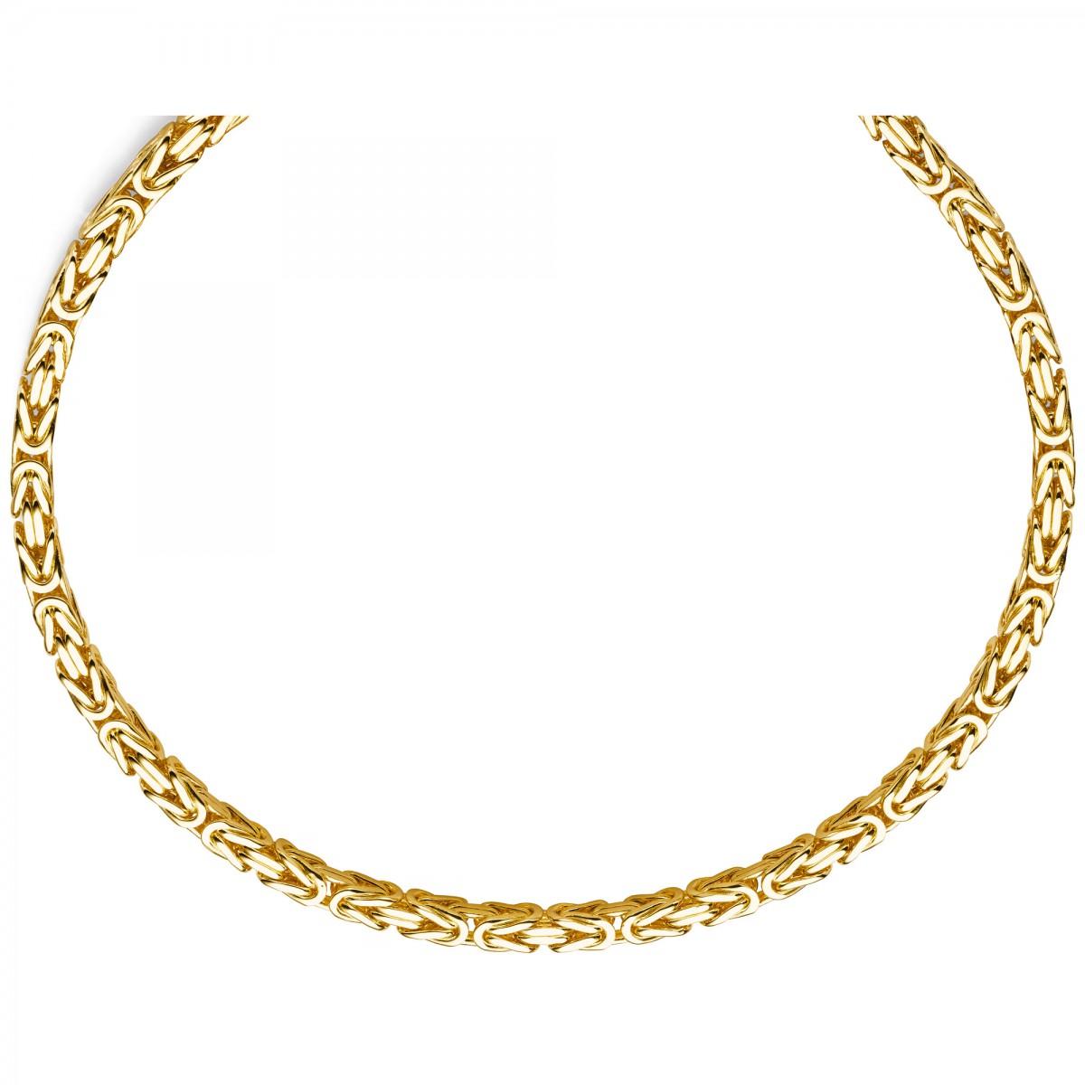 7mm k nigskette aus 585 gold gelbgold kette halskette 70cm. Black Bedroom Furniture Sets. Home Design Ideas